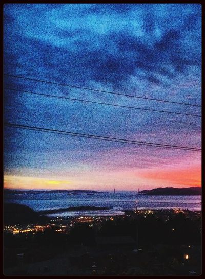 Look Up And Thrive Sunset Collection City Lights San Francisco Bay View