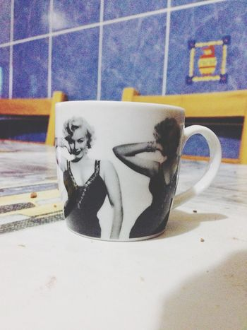 little coffee with Marilyn !