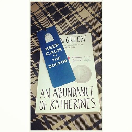 My new bookmark! Doing some light reading before heading to the gym. Anabundanceofkatherines Johngreen Doctorwho Whovian