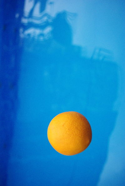 #Blue #Contrast #Shadow #darkblue #fruit #minimalist #orange  #pool #rigate Blue No People
