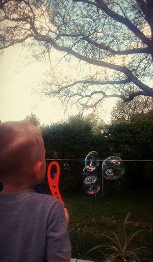 One Person Child Childhood Headshot Bubbles!