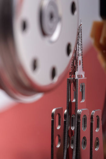 Close-up of machine part