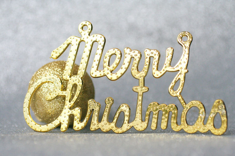 Merry Christmas background Celebration Christmas Background Close-up Gift Gold Gold Colored Gold Gift Merry Christmas
