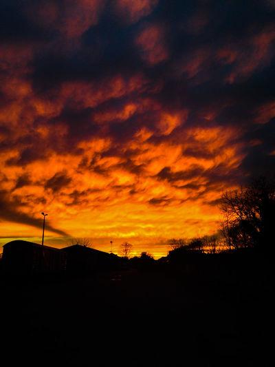 Cloud Cloud - Sky Cloudscape Cloudy Dramatic Sky Light Majestic Moody Sky Orange Color Outdoors Silhouette Sky Skyonfire Sunset Weather