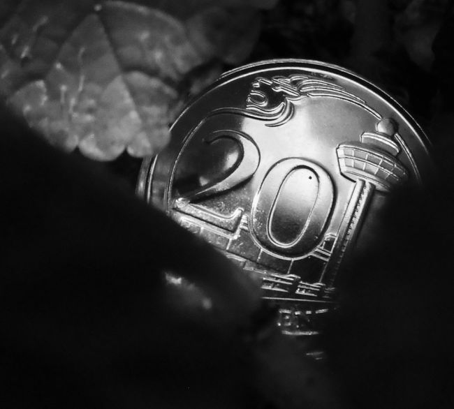 """""""No object is mysterious. The mystery is your eye."""" ~Elizabeth Bowen~ Close-up Outdoors Light And Shadow Blackandwhite Photography Blackandwhite Bnwphotography Bnw_collection Bnw Bnw_friday_eyeemchallenge Canonphotography Mysterious Mystery Coin Day Black Background Colored Background Green Color No People Outdoor Photography Hello World Check This Out"""