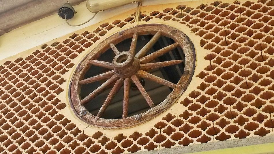 Geometric Shape No People Day Window Wheel Circular Window Farm Wall