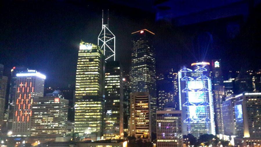香港夜景-----2015-7-14于中环摩天轮 City HongKong Light And Shadow Holiday