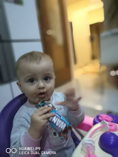 My baby eating Looking At Camera Child Playing