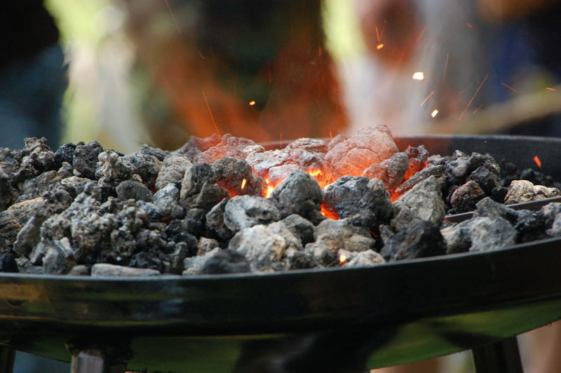 Blacksmithing Burning Close-up Coal Coal Fire Day Forge  Heat - Temperature No People Outdoors Smoke - Physical Structure