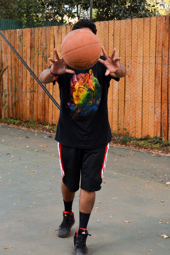 One Person Front View Adult Day Standing Outdoors Full Length Adults Only People Real People Only Women Basketball Camera Nikon EyeEmBestPics EyeEm Best Shots Kenya Sports Sports Photography Sportsman Basketball - Sport Basketball Player Selective Focus
