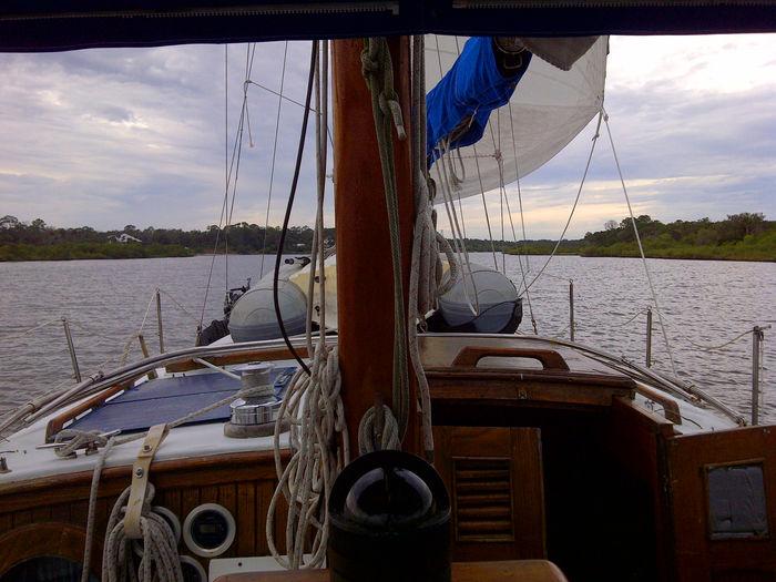 Nautical Vessel Mode Of Transport Sailboat Sailing Helm Sailing Ship Yachting Cruising Intercostal Waterway
