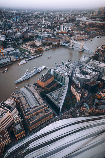 Aerial View Architecture Bridge Bridge - Man Made Structure Building Building Exterior Built Structure City Cityscape Connection Crowded High Angle View Office Building Exterior Outdoors Residential District River Transportation Travel Destinations Water