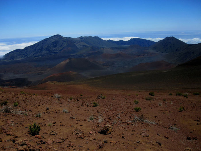 Hawaii Maui Mountain Scenics - Nature Landscape Tranquil Scene Tranquility Sky Beauty In Nature Environment Land Mountain Range Non-urban Scene No People Nature Desert Day Remote Idyllic Outdoors Physical Geography Cloud - Sky Climate Arid Climate Mountain Peak