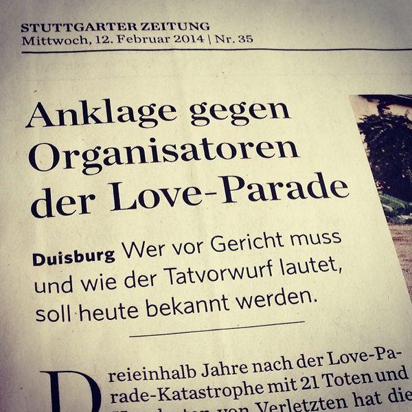 Nach fast vier Jahren? Respekt Herr Staatsanwalt! #loveparade (via StZ_Live) Stuttgart Duisburg Newspaper Zeitung Article Stuttgarterzeitung Loveparade Headline Artikel