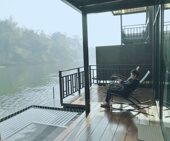 Lovely Grandmom Kanchanaburi Thailand River View River Country Life Countryside Rafting Rafthouse Rest Relax EyeEmNewHere