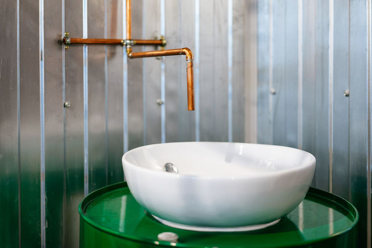 Industrial Industrial Style Domestic Room Bathroom Home Interior Close-up Bathroom Sink Sink Drain Tap