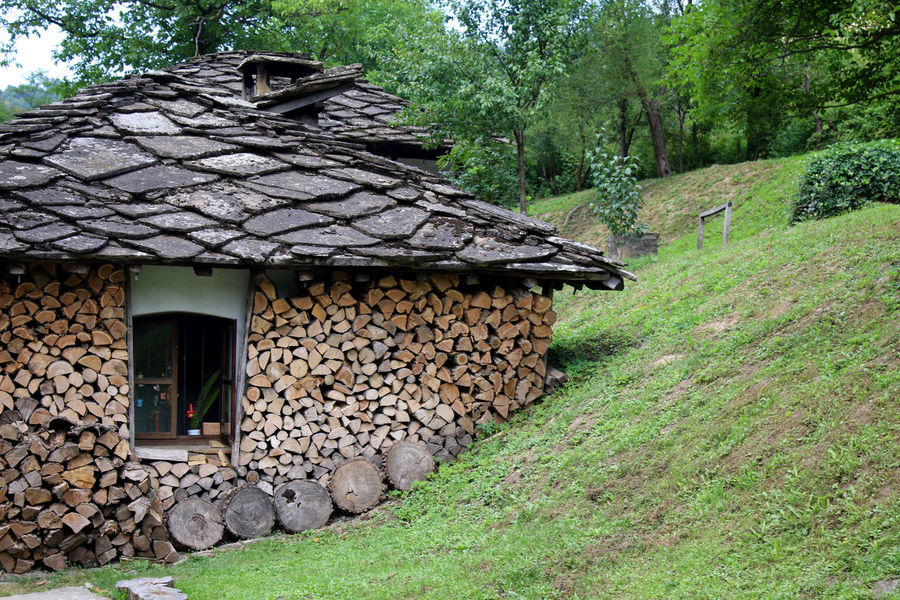 Ethnographic complex ETAR,Gabrovo Architecture Building Exterior Built Structure Bulgaria Bulgarian Cottage Day Exterior Green Green Color House No People Outdoors Residential Structure Rural Scene Stone Material Stone Wall Tranquility Village Village Life Village Photography Window Beautifully Organized