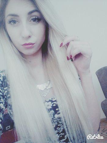 Blonde Girl Cheese! Beng Beng Long Hair, Don't Care. That's Me Great