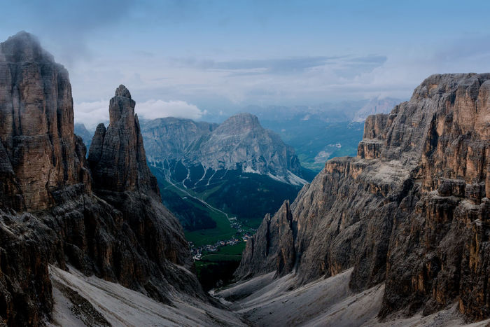 Corvara in Badia - Corvara, Italy dolomiti Beauty In Nature Cloud - Sky Day Landscape Mountain Mountain Range Nature No People Outdoors Panoramic Scenics Sky