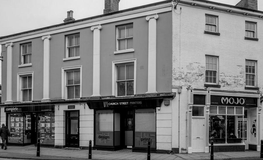 Georgian Shops, Church Street, Rugby, Warwickshire Architecture Monochrome Black And White Rugbytown Rugby Warwickshire Shops FUJIFILM X-T10