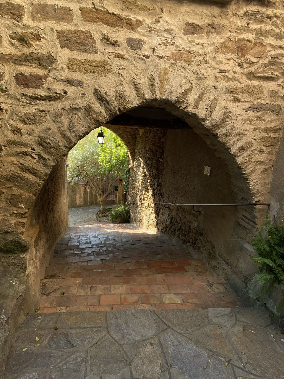 architecture, arch, built structure, the way forward, direction, no people, tunnel, day, nature, building, indoors, wall - building feature, empty, wall, stone wall, history, the past, footpath, plant, arched, light at the end of the tunnel