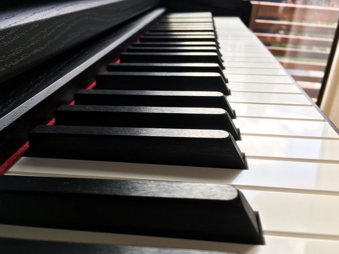 Piano keys close up Musical Instrument Piano Key Musical Equipment Piano Music Arts Culture And Entertainment No People