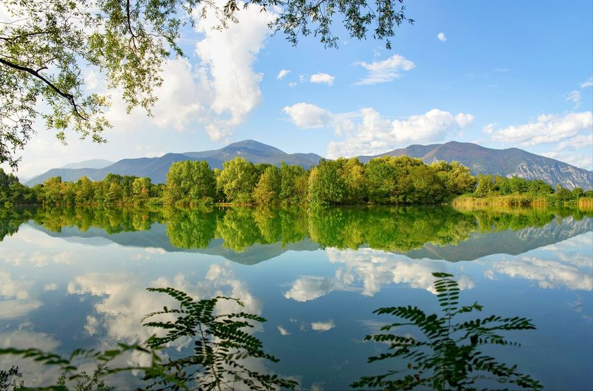 Reflection Lake Water Sky Tree Mountain No People Nature Cloud - Sky Outdoors Tranquility Scenics Symmetry Day Mountain Range Beauty In Nature Eltano86 Colors Lake View Torbiere Torbieredelsebino Nature Nature_collection Nature Photography Naturelovers