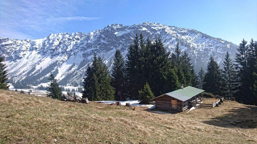 Nebelhorn Beauty In Nature Mountain Mountain Range Outdoors Sky Snowcapped Mountain Winter