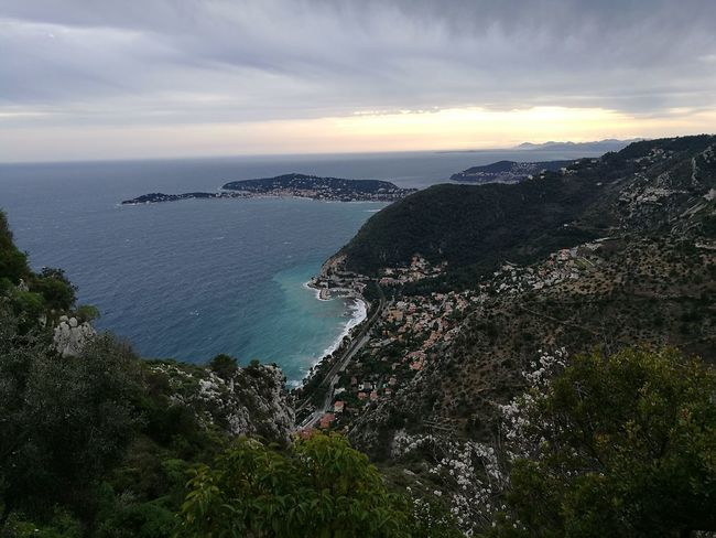 View of Cap Ferrat from Eze Sky Landscape Beauty In Nature Outdoors Day No People