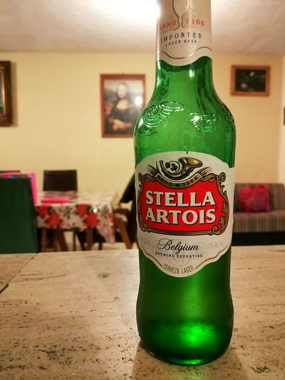 Beer Time Relax Cerveza Stellaartois Alcohol Drink Drinking Glass Bottle Text Label Close-up Green Color Food And Drink Beer Glass Beer Alcoholic Drink