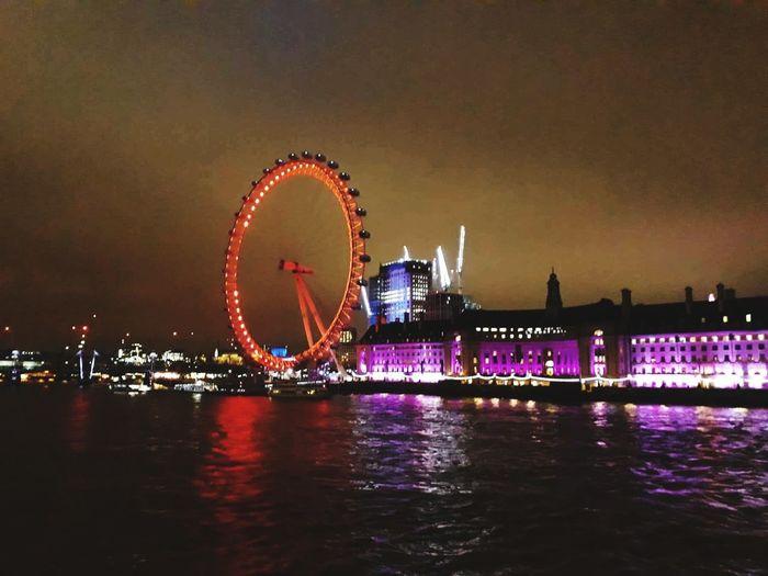 Night Ferris Wheel Arts Culture And Entertainment Amusement Park Circle Illuminated Travel Destinations