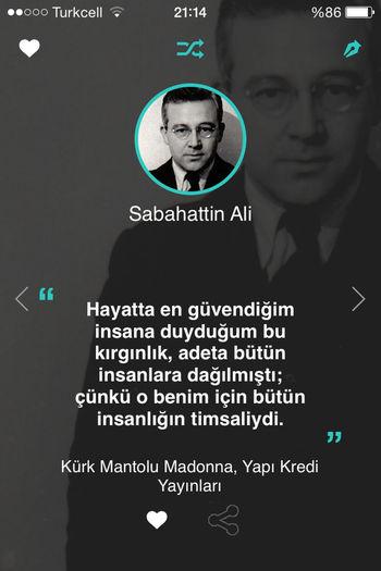 Sabahattin Ali Kurkmantolumadonna