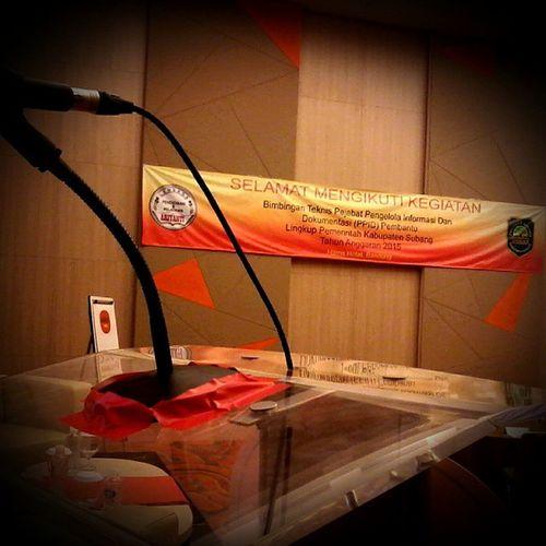 Bimtek PPID Pembantu Lingkup Kab. Subang tahun anggaran 2015 Pelatihan Motivasi Bimtek Televisinet Hotelharris Harrishotel Sriwijayamandiri Ariyanti