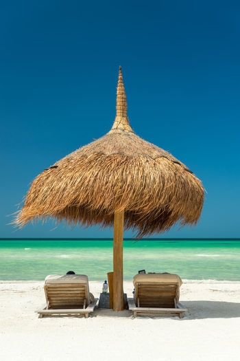 Thatched palapa