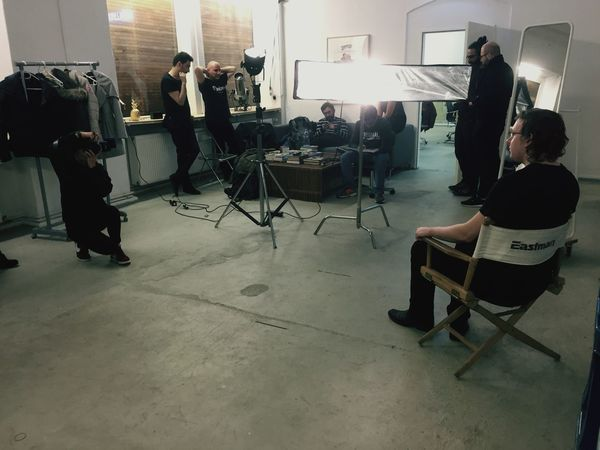 Indoors  Film Industry Teamwork Candid Behind The Scenes Photography Themes Fashion Model Camera Operator Group Of People Standing Studio Shot EyeEm Team Research And Development Offsite
