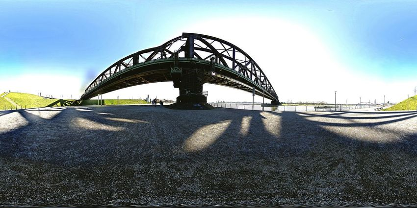 Outdoors Sky No People Architecture City Bridge - Man Made Structure Silhouette Panorama Foto Duisburg | Germany Rhein💫