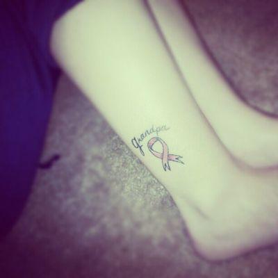 I miss you Grandpa Tattoo Cancer Honor Heaven