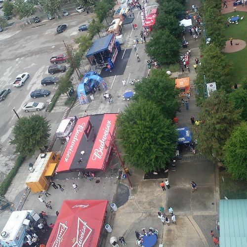 Bird's eye view of the HispanicHeritage Festival at Minutemaidpark