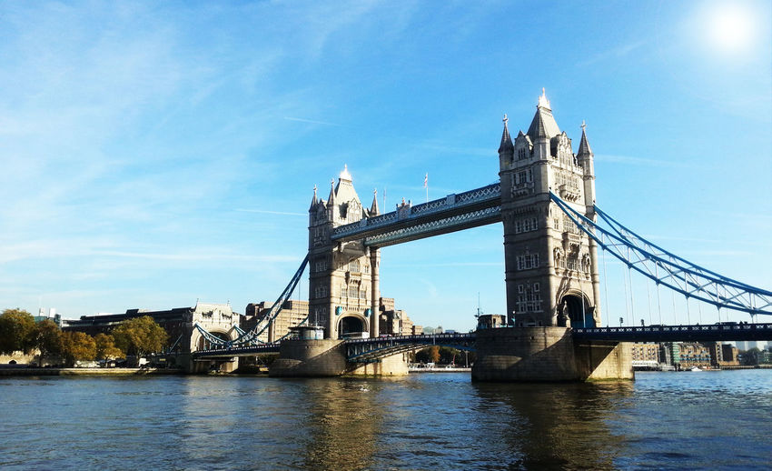 View of tower bridge over river