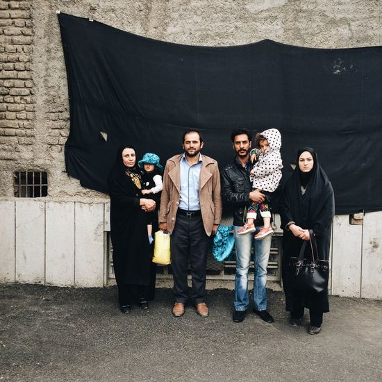 Iranian Family Mashhad Piligrim
