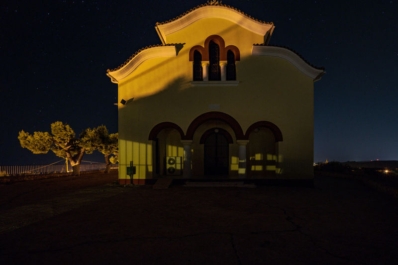 Greek Island in the Night Chruch EyeEm Night Shots Night Lights Night Photography Nightphotography Outlook Architecture Night No People Outdoors Sky