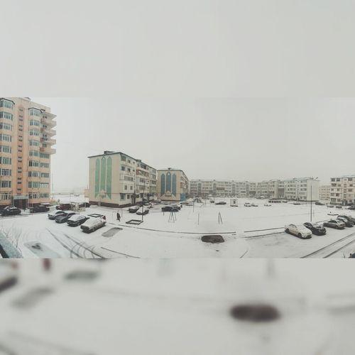 вид из окна снег идет! вид из моего окна Panorama Тараз 12 мкр мкр.Астана