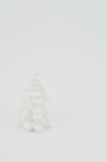 white shapes - wax fir Xmas Decorations Xmas Tree Copy Space Cut Out Decorations Fluffy Full Length Indoors  Nature No People Purity Simplicity Snow Softness Studio Shot Tranquility Wax Fir White Background White Color Winter