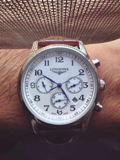 Its Time. Longines Wristwatch Time Arm Indoors  Day Sunlight