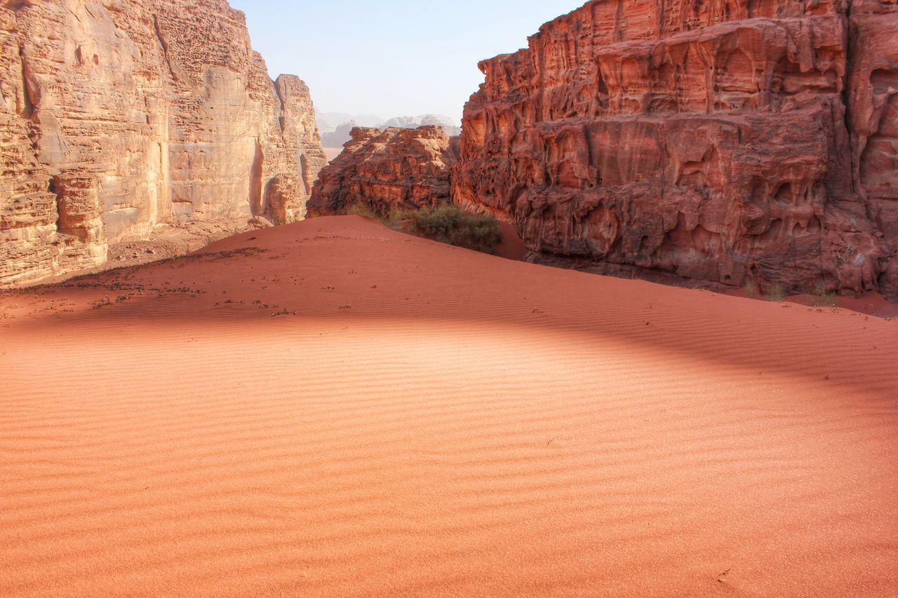 Cliffs in a desert