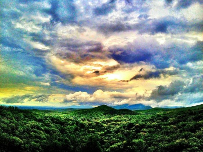 Dramatic sky over landscape