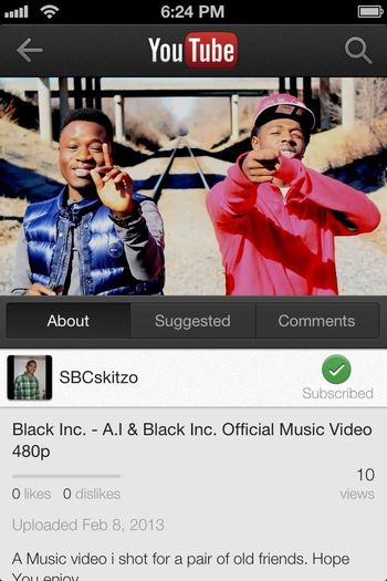 Go Watch My Music Video On Youtube