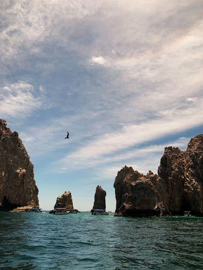 Famous Place Water Bird Sky Cloud - Sky Vertebrate Animal Rock Flying