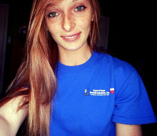 Smile. Good Day.  Red Head.  Long Hair.