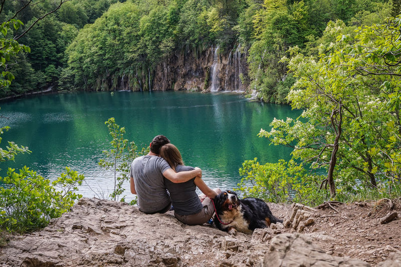 Croatia Love National Park Plitvice Lakes National Park Beauty In Nature Couple - Relationship Day Dog Domestic Domestic Animals Lake Lake View Landscape Natue Nature One Animal Outdoors People Pets Plitvice Plitvice National Park Positive Emotion Real People Tree Water